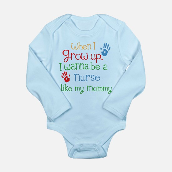 Nurse Like Mommy Long Sleeve Infant Bodysuit