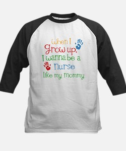Nurse Like Mommy Kids Baseball Jersey
