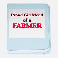 Proud Girlfriend of a Farmer baby blanket