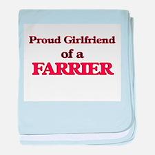 Proud Girlfriend of a Farrier baby blanket