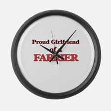 Proud Girlfriend of a Farrier Large Wall Clock