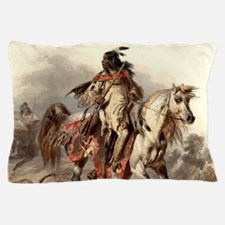 Blackfoot Native American Warrior Pillow Case