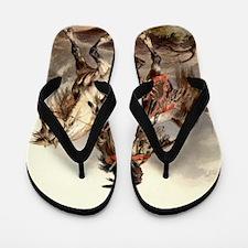 Blackfoot Native American Warrior Flip Flops
