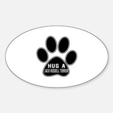 Hug A Jack Russell Terrier Dog Decal