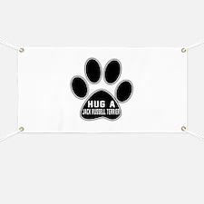Hug A Jack Russell Terrier Dog Banner