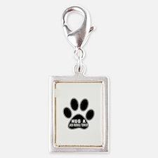 Hug A Jack Russell Terrier D Silver Portrait Charm