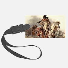 Blackfoot Native American Warrio Luggage Tag