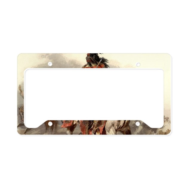 Blackfoot Native American War License Plate Holder By