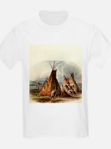 Assiniboin Native Skin Lodge T-Shirt