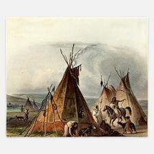 Assiniboin Native Skin Lodge King Duvet