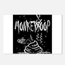 Monkeysoop's Monkeypoop d Postcards (Package of 8)