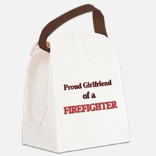 Proud Girlfriend of a Firefighter Canvas Lunch Bag