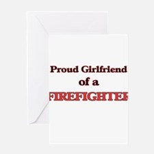 Proud Girlfriend of a Firefighter Greeting Cards