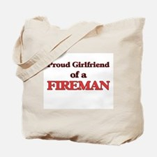 Proud Girlfriend of a Fireman Tote Bag