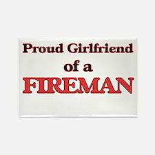 Proud Girlfriend of a Fireman Magnets