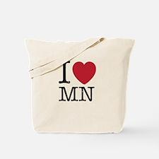 I Love MN Minnesota Tote Bag