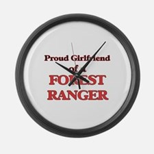 Proud Girlfriend of a Forest Rang Large Wall Clock