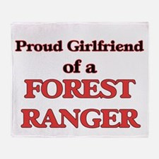 Proud Girlfriend of a Forest Ranger Throw Blanket
