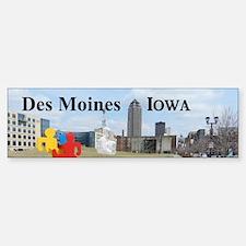 Des Moines Bumper Bumper Sticker