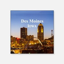 "Des Moines Square Sticker 3"" x 3"""