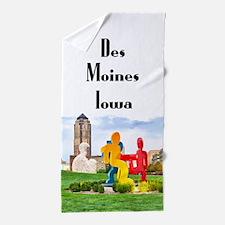 Des Moines Beach Towel