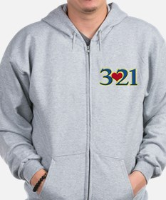 321 Down Syndrome Awareness Day Zip Hoodie