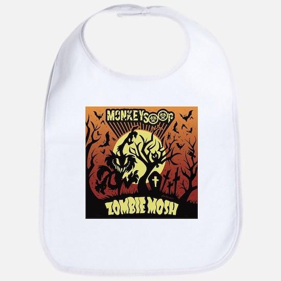 Monkeysoop Zombie Mosh artwork Bib
