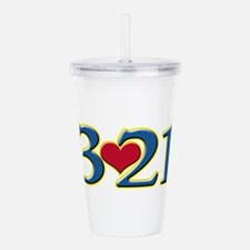 321 Down Syndrome Awar Acrylic Double-wall Tumbler