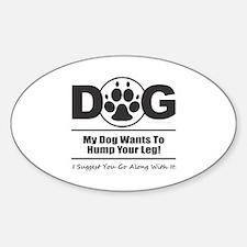 Dog Hump Leg Decal