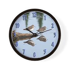 Solitary Sandpiper Wall Clock