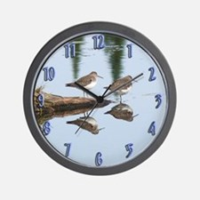 Solitary Sandpiper Wall Clock