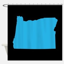 oregon blue black Shower Curtain