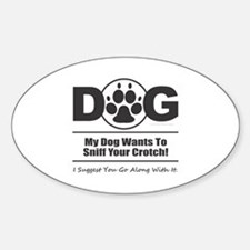 Dog Sniff Crotch Decal