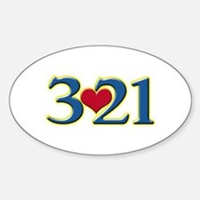 321 Down Syndrome Awareness Day Decal