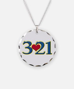 321 Down Syndrome Awareness Necklace