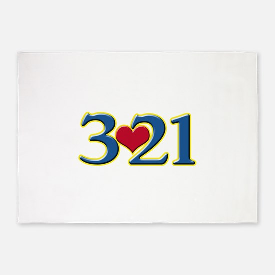 321 Down Syndrome Awareness Day 5'x7'Area Rug