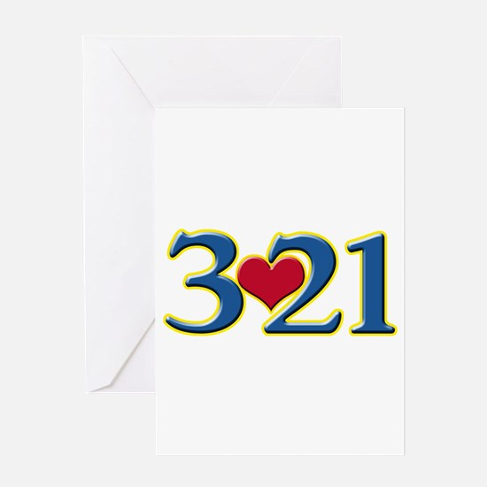 321 Down Syndrome Awareness Day Greeting Cards