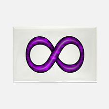 Purple Infinity Symbol Magnets