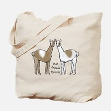 cute llamas bff Tote Bag