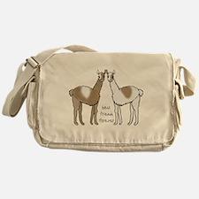 cute llamas bff Messenger Bag
