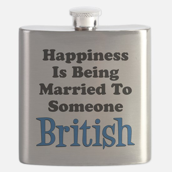 Happiness Married To Someone British Flask