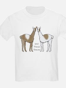 cute llamas bff T-Shirt