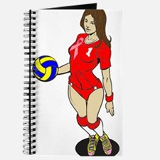 SEXY VOLLEY GIRL PINK RIBBON Journal