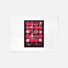 Monkeysoop's Little Pink Dots desig 5'x7'Area Rug