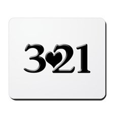 321 Down Syndrome Awareness Day Mousepad