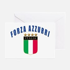 Forza azzurri Greeting Cards (Pk of 10)