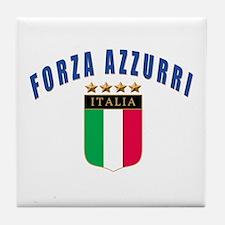 Forza azzurri Tile Coaster