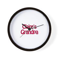Claire's Grandpa Wall Clock