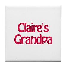 Claire's Grandpa Tile Coaster
