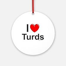 Turds Round Ornament
